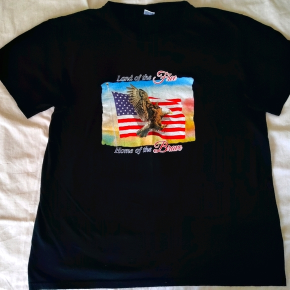 """""""Land of The Free-Home of the Brave"""" T-shirt"""